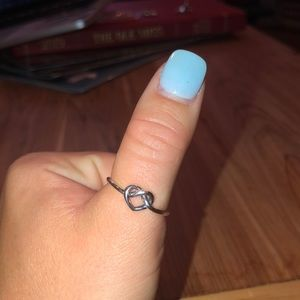 James Avery delicate knot-heart ring